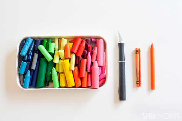 DIY crayons -- supplies