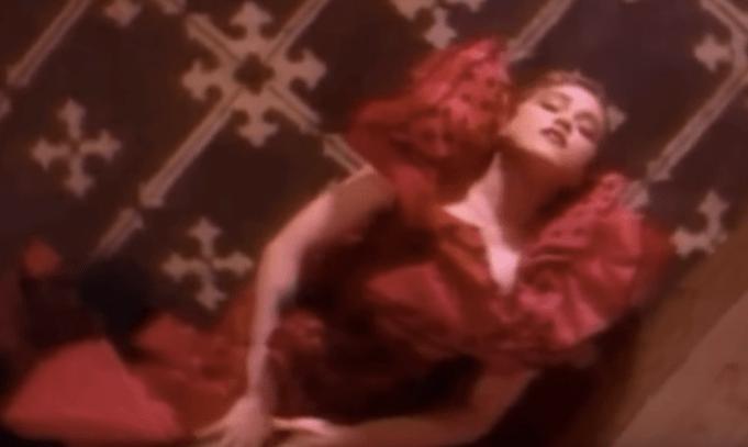 "Madonna in ""La Isla Bonita"" music video"