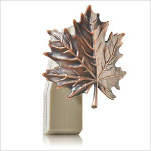 Copper maple leaf fragrance plug