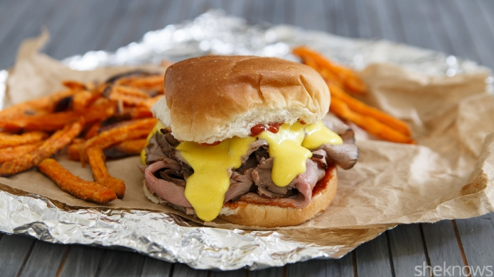 Copycat Arby's beef and cheddar sandwich