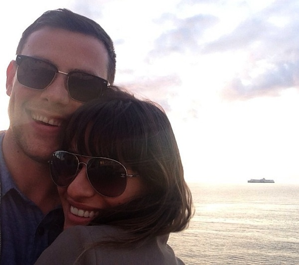 Lea Michele and Cory Monteith together.
