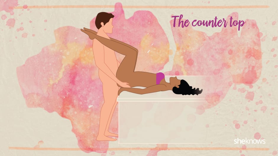 The countertop sex position illustration