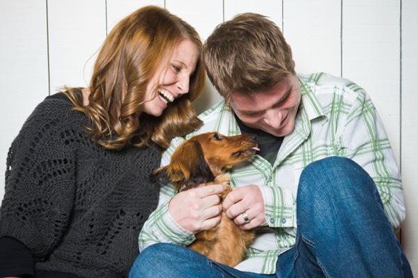 Couple adopting a dog