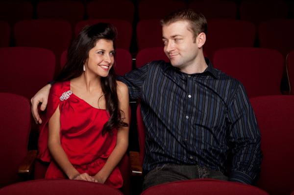 Couple at indie theater