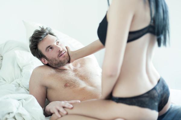 Couple having steamy sex
