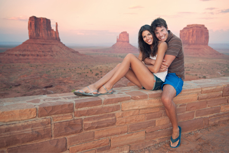 Couple in Monument Valley National Park
