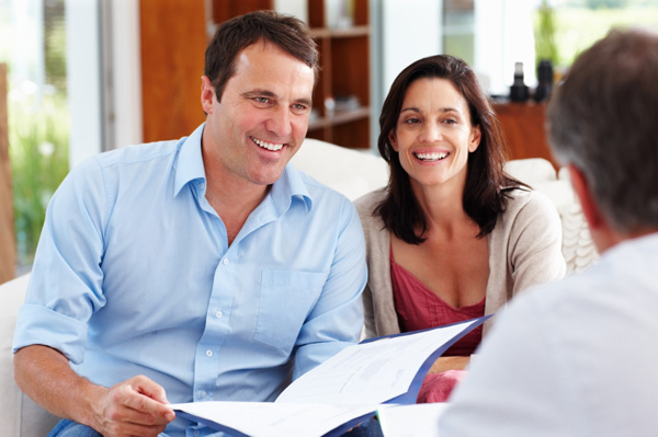couple meeting with accountant