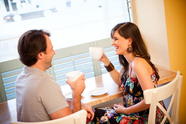 Couple on first date