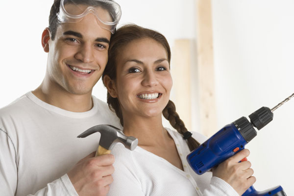 Couple ready to do home maintenence