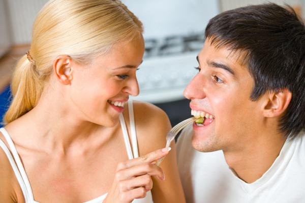 Couple Eating Romantic Dinner
