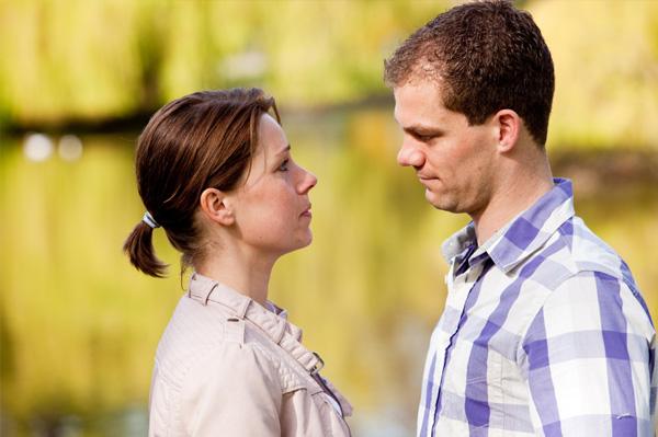 Couple dealing with conflict