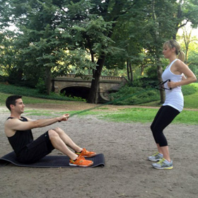 Resistance Band Row with Seated Partner