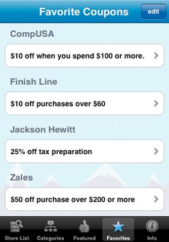 Coupon Sherpa app