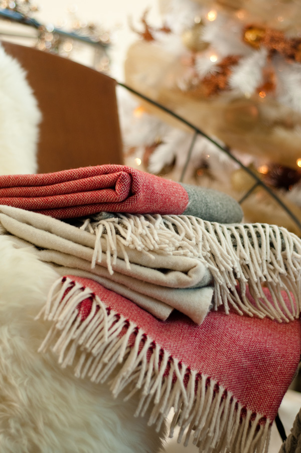 Courtney's Corner: Decorating for Christmas -- Blankets and pillows