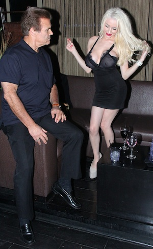 Courtney Stodden parties with Edward Lozzi.