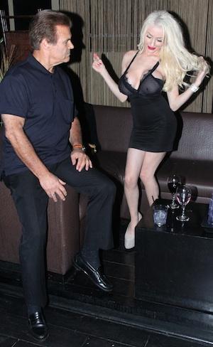 Courtney Stodden parties with Edward Lozzi.