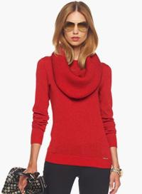Cowl neck winter sweater