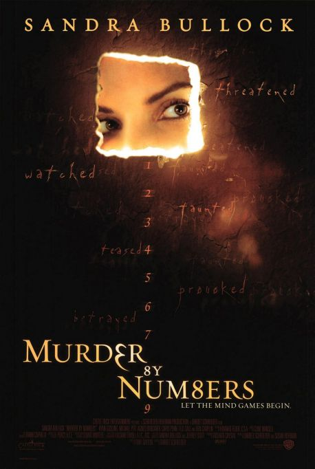 Sandra Bullock 'Murder by Numbers' movie poster