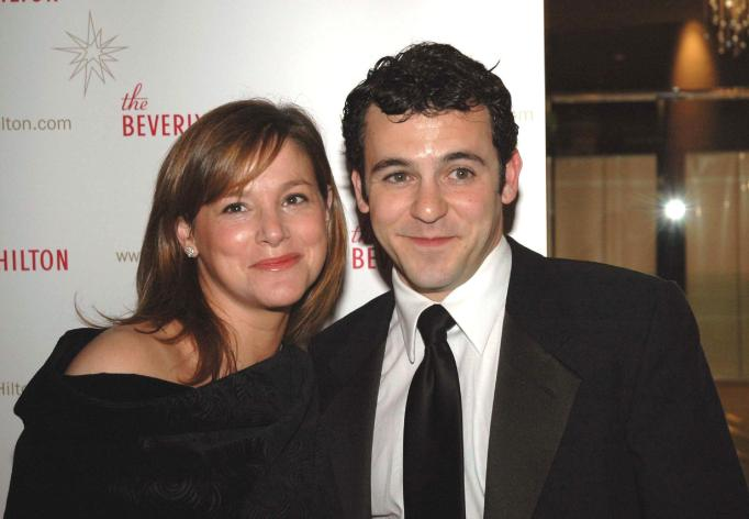 Fred Savage and his wife
