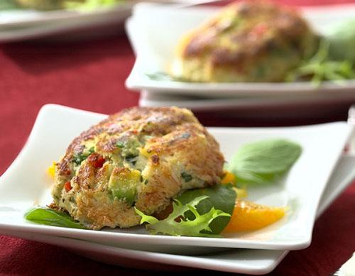 avocado stuffed crab cake