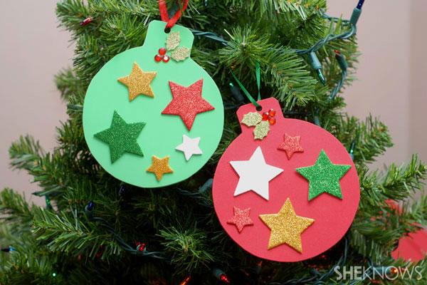 Foam Christmas ornaments