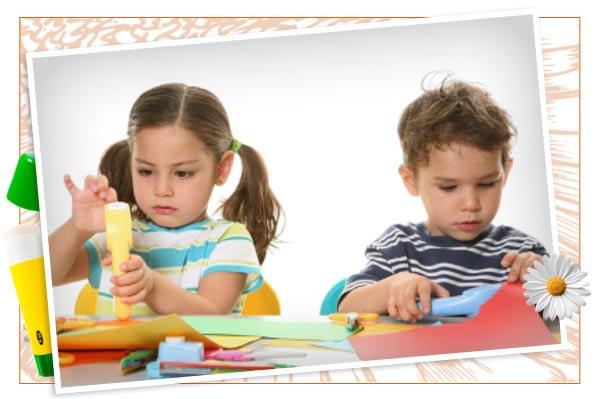 Kids springtime crafting