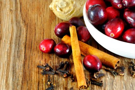 Cranberry, cloves, cinnamon