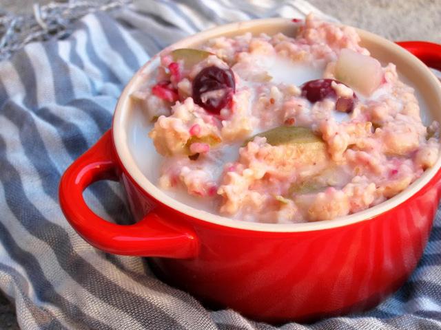 Cranberry pear oatmeal