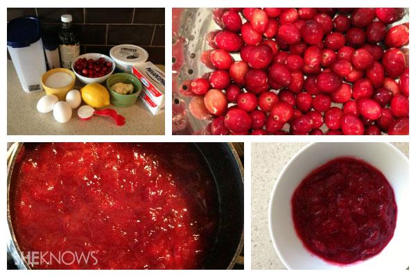 Cranberry swirl cheesecake bars preparing the cranberries | Sheknows.ca