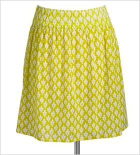 Printed-Pocket Skirt