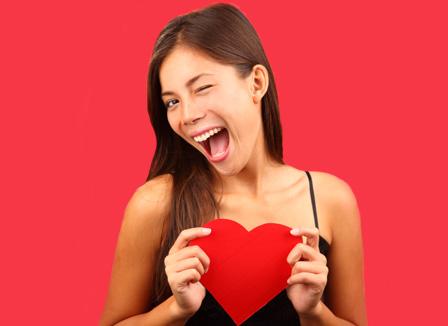 Crazy Valentine's Day woman