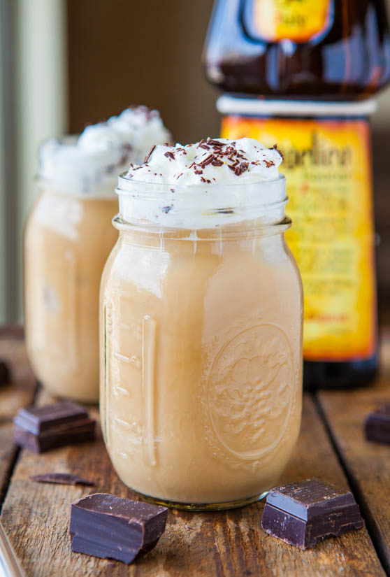 creamy boozy iced coffee
