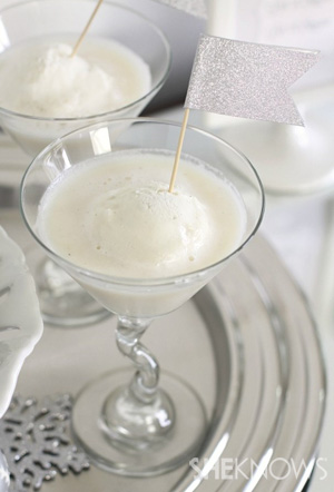 Melting Snowball Cocktail