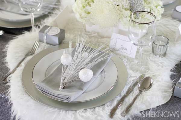 Create a winter-wonderland holiday party