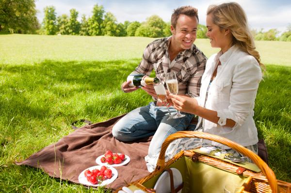 Creative date picnic