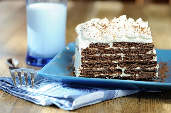 No-bake Nutella chocolate icebox cake