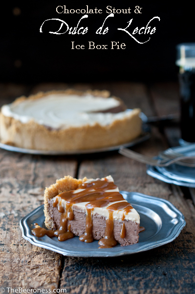 Chocolate stout and dulce de leche icebox pie