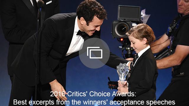 critics choice winners' speeches slideshow
