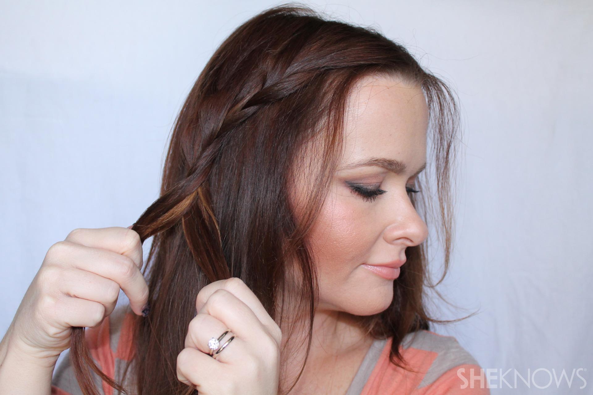Crown braid   Sheknows.com - step 04