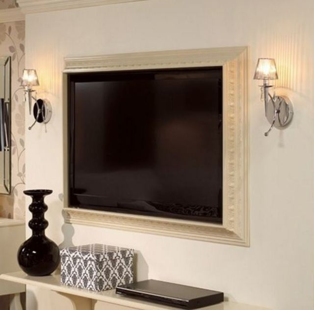 Crown molding TV