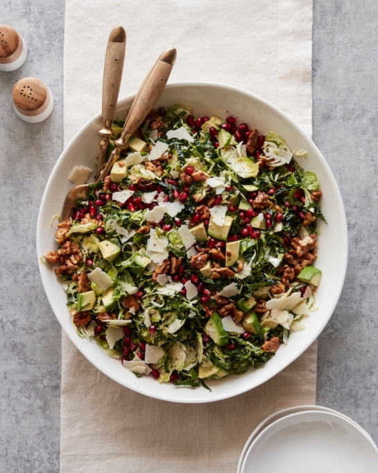 Yummy Winter Salads You'll Actually Crave   Shredded Brussels Sprouts Salad