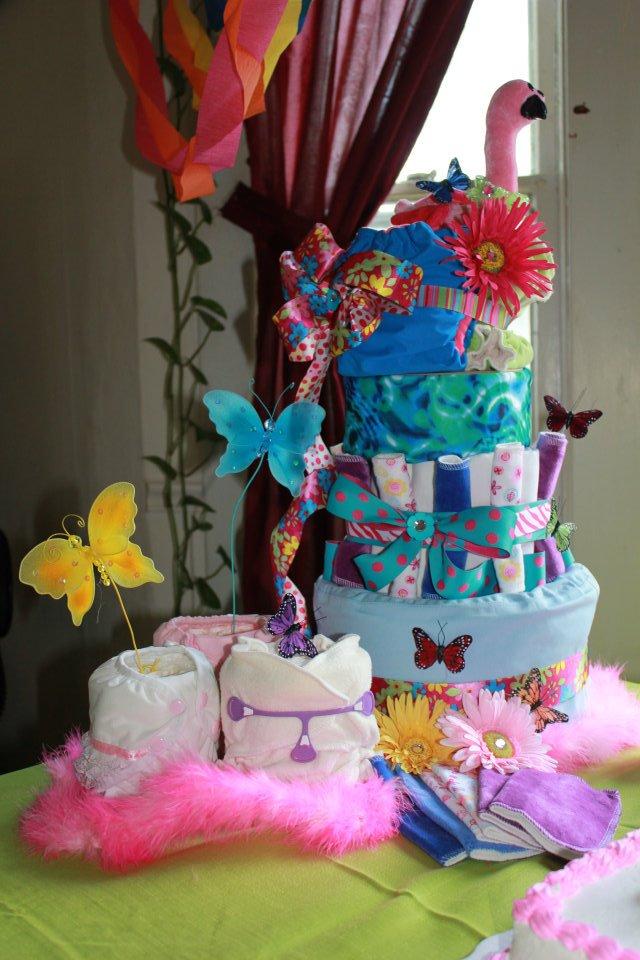 Nature cloth diaper cake