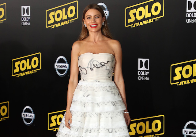 Sofia Vergara attends the premiere of Disney Pictures and Lucasfilm's 'Solo: A Star Wars Story' at the El Capitan Theatre