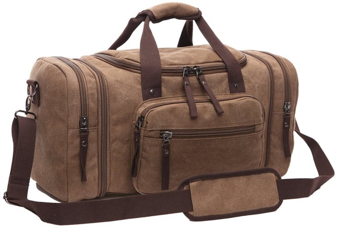 Toupons Large Canvas Men's Weekender Duffle Bag