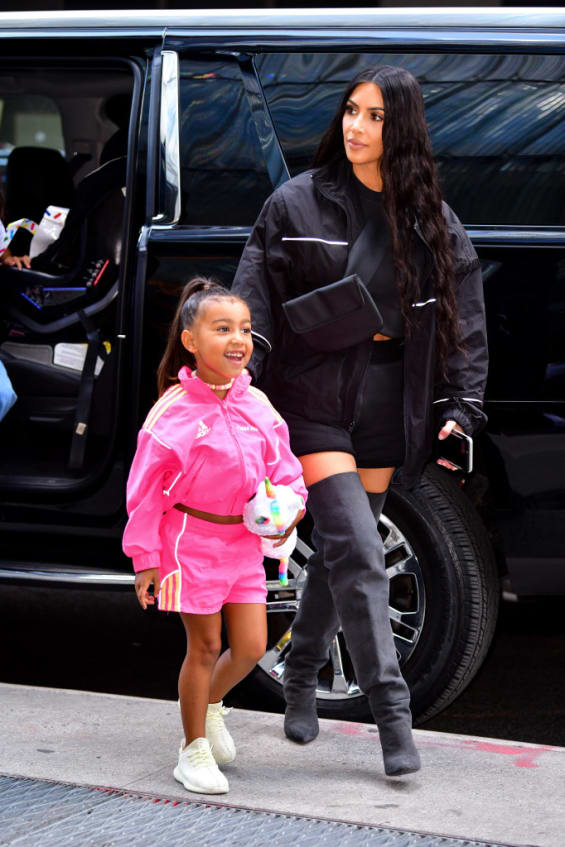 Kim K and daughter North West