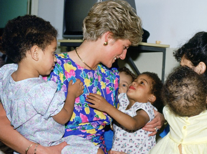 Iconic photos of Princess Diana: Diana cuddling HIV-positive babies