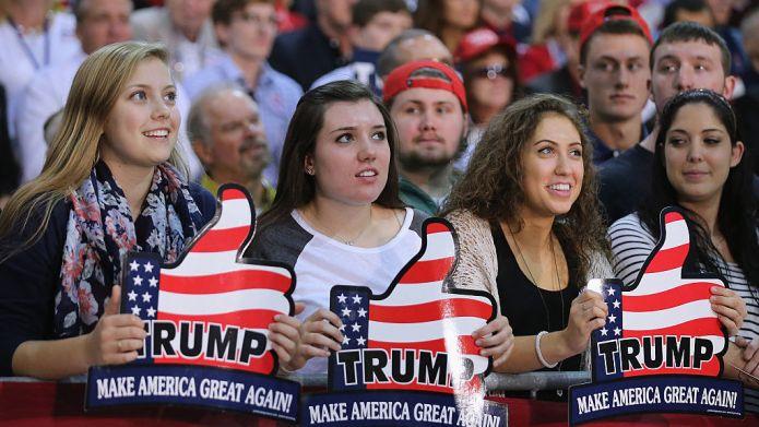 RICHMOND, VA - OCTOBER 14: Supporters