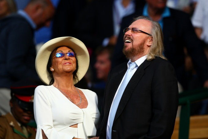 Check out these celebrities at the 2017 Wimbledon tournament: Barry Gibb