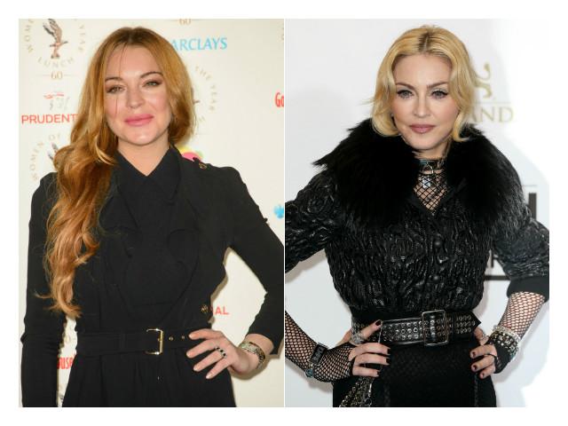 Lindsay Lohan and Madonna