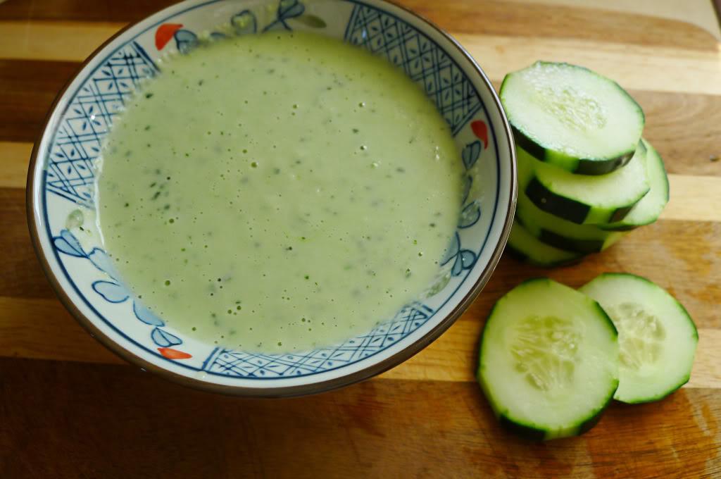 Creamy cucumber dressing